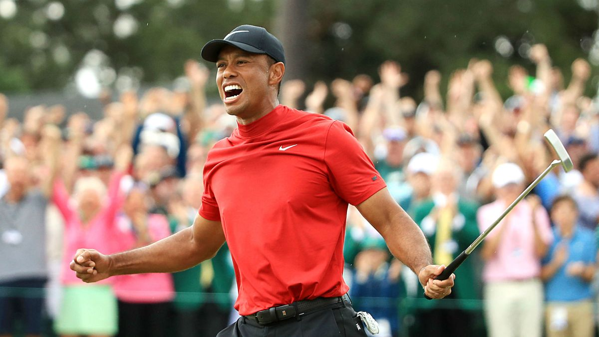 2019 masters  tiger woods storms leaderboard  wins fifth